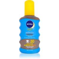 Nivea Sun Protect & Bronze suchý olej na opaľovanie SPF 20
