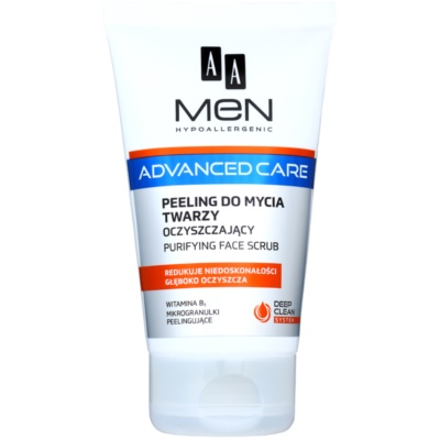 AA Cosmetics Men Advanced Care καθαριστικό απολεπιστικό τζελ Για το πρόσωπο