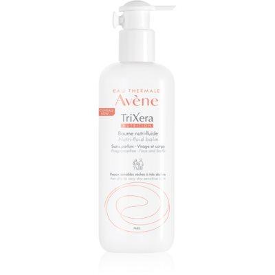 Avène TriXera Nutrition интензивно подхранващ флуид-балсам за лице и тяло без парфюм