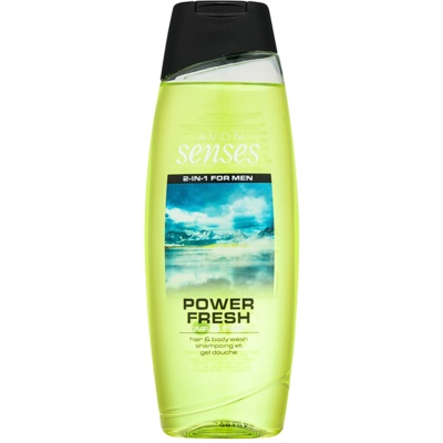 Avon Senses Power Fresh gel de douche et shampoing 2 en 1