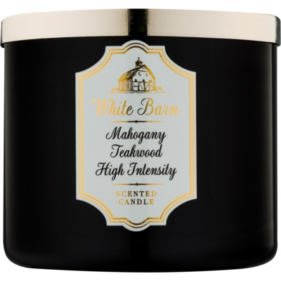 Bath & Body Works White Barn Mahogany Teakwood High Intensity bougie parfumée