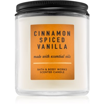 Bath & Body Works Cinnamon Spiced Vanilla dišeča sveča  I.