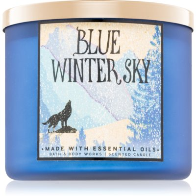 Bath & Body Works Blue Winter Sky scented candle