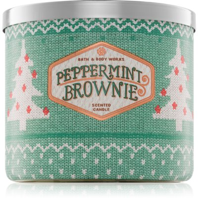 Bath & Body Works Peppermint Brownie illatos gyertya