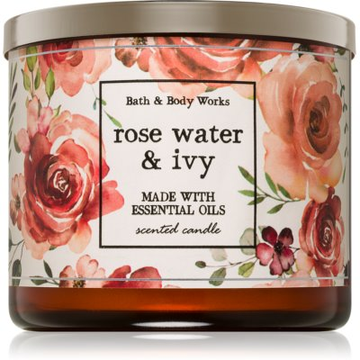 Bath & Body Works Rose Water & Ivy bougie parfumée