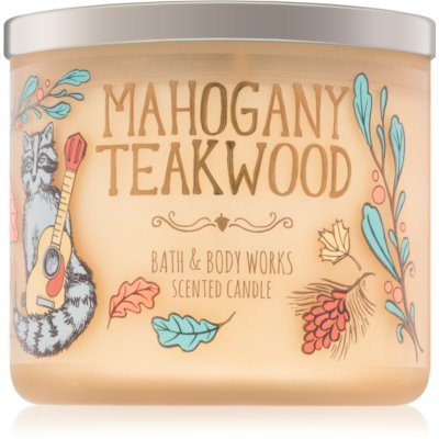 Bath & Body Works Mahogany Teakwood vela perfumada IV.