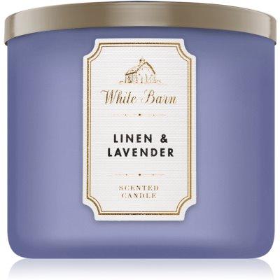 Bath & Body Works Linen & Lavender vela perfumada