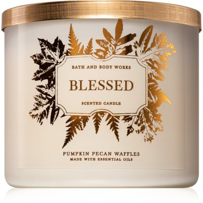 Bath & Body Works Pumpkin Pecan Waffles illatos gyertya  I. (Blessed)