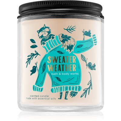 Bath & Body Works Sweater Weather scented candle I.