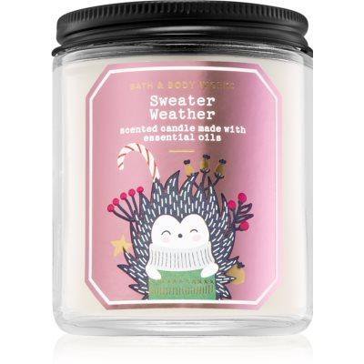 Bath & Body Works Sweater Weather vela perfumada  III