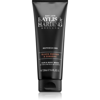 Baylis & Harding Black Pepper & Ginseng Shower Gel And Shampoo 2 In 1