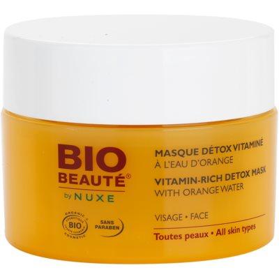 Bio Beauté by Nuxe Masks and Scrubs witaminowa maseczka detoksykująca z wodą pomarańczową