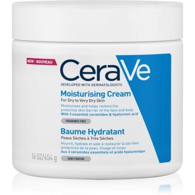 CeraVe Moisturizers feuchtigkeitspendende Creme für Gesicht und Körper für trockene und sehr trockene Haut