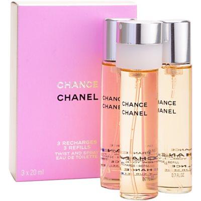 Chanel Chance woda toaletowa uzupełnienie dla kobiet