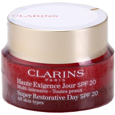 Clarins Super Restorative дневной лифтинг-крем против морщин для всех типов кожи лица SPF 20