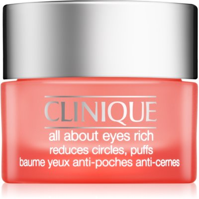 Clinique All About Eyes Rich hydratačný očný krém proti opuchom a tmavým kruhom