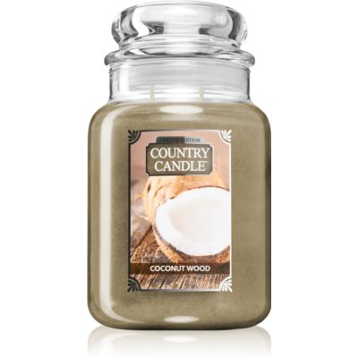 Country CandleCoconut Wood