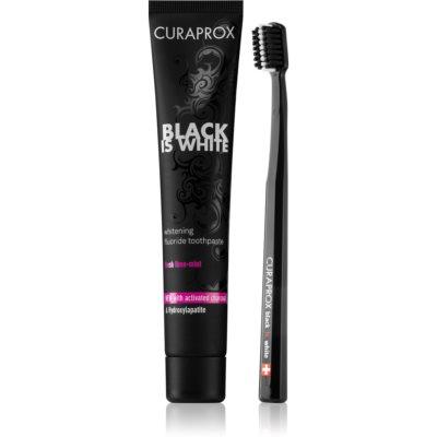 Curaprox Black is White zestaw kosmetyków I. unisex