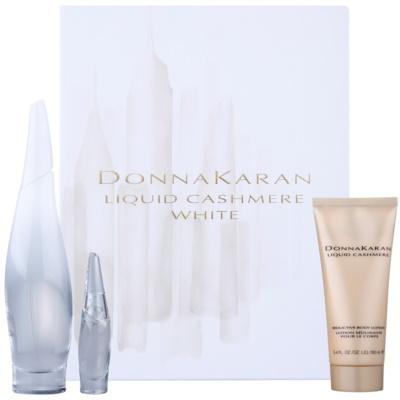DKNY Liquid Cashmere White Gift Set I.  Eau De Parfum 100 ml + Eau De Parfum 7 ml + Body Milk 100 ml