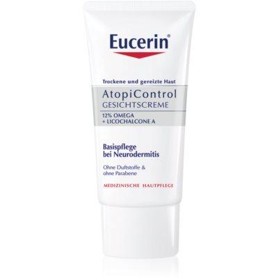 Eucerin AtopiControl успокаивающий крем для сухой и зудящей кожи лица