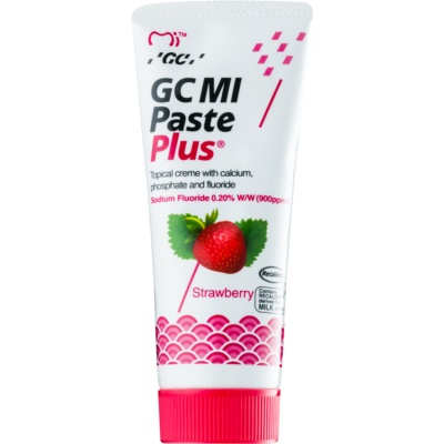 GC MI Paste Plus Strawberry crema protectora remineralizante para dientes sensibles  con fluoruro