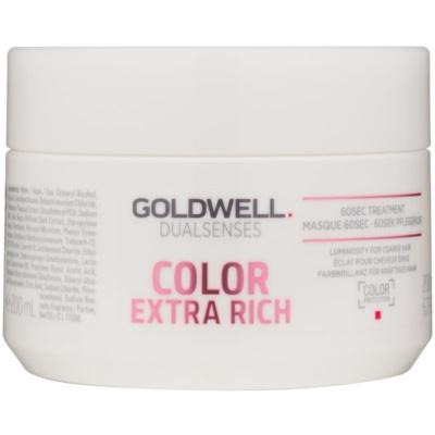 Goldwell Dualsenses Color Extra Rich regeneráló maszk a vastagszálú, festett hajra