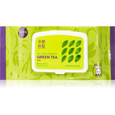 Holika Holika Pure Essence Mask Sheet Green Tea osviežujúca ranná maska s výťažkom zeleného čaju