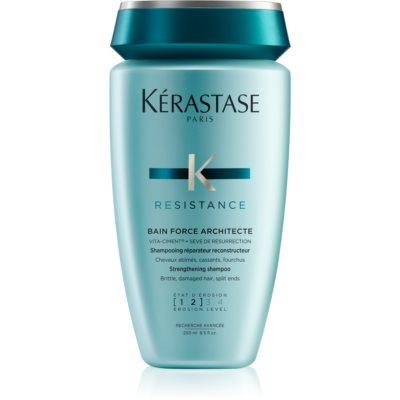 Kérastase Résistance Bain Force Architecte Shampoo mit stärkender Wirkung für geschwächtes und leicht beschädigtes Haar