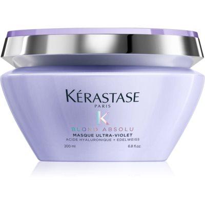 Kérastase Blond Absolu Masque Ultra-Violet mélyápolás  szőkített, melírozott, hideg szőke hajra