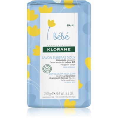 Klorane Bébé Calendula Nourishing Cleansing Bar for Children from Birth