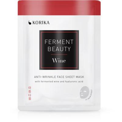 KORIKA FermentBeauty тканевая маска против морщин с ферментированным виноградом и гиалуроновой кислотой
