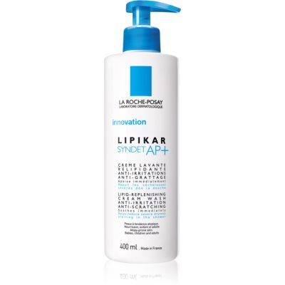 La Roche-Posay Lipikar Syndet AP+ Cleansing Creamy Gel Against Irritation And Itching