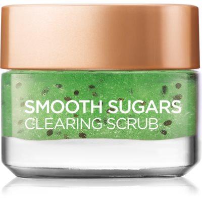 L'Oréal Paris Smooth Sugars Scrub čistiaci peeling proti čiernym bodkám