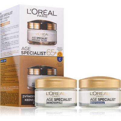 L'Oréal Paris Age Specialist 65+ zestaw kosmetyków I. (przeciw zmarszczkom) dla kobiet