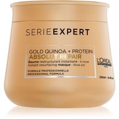 L'Oréal Professionnel Serie Expert Absolut Repair Gold Quinoa + Protein maschera rigenerante intensa per capelli molto danneggiati