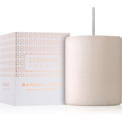 Luminum Candle Premium Aromatic Sandalwood illatos gyertya  kicsi (⌀ 50 - 60 mm, 15 h)