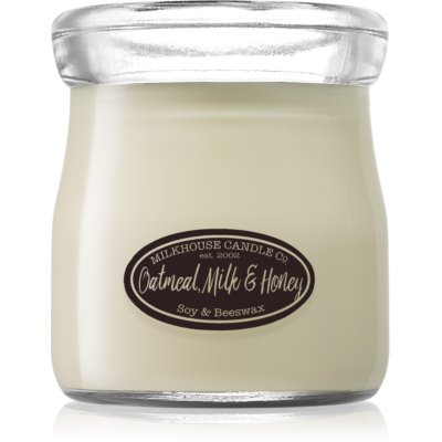 Milkhouse Candle Co. Creamery Oatmeal, Milk & Honey scented candle Cream Jar
