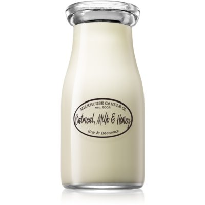Milkhouse Candle Co. Creamery Oatmeal, Milk & Honey scented candle Milkbottle