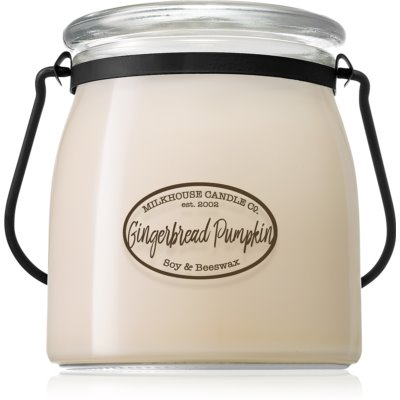 Milkhouse Candle Co. Creamery Gingerbread Pumpkin candela profumata Butter Jar