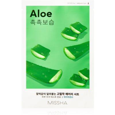 Missha Airy Fit Aloe тканевая маска с увлажняющим и успокаивающим эффектом
