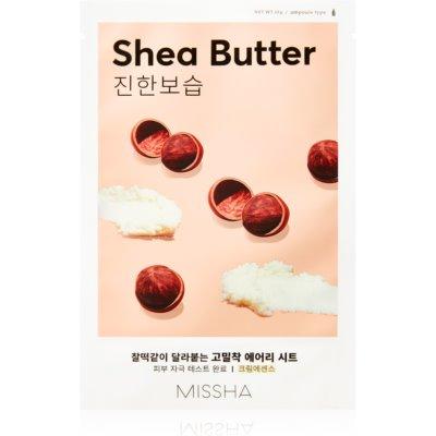 Missha Airy Fit Shea Butter maschera in tessuto altamente idratante e nutriente