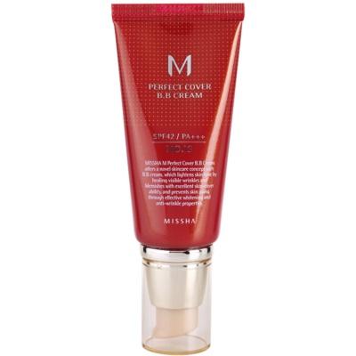 Missha M Perfect Cover ВВ-крем с высокой степенью защиты от УФ-лучей