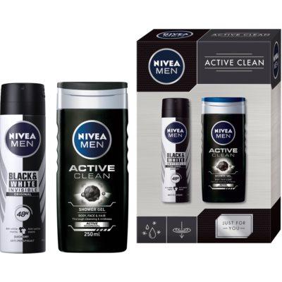 Nivea Men Active Clean darilni set X. (za moške)