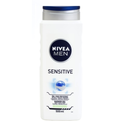 Nivea Men Sensitive gel za prhanje za obraz, telo in lase