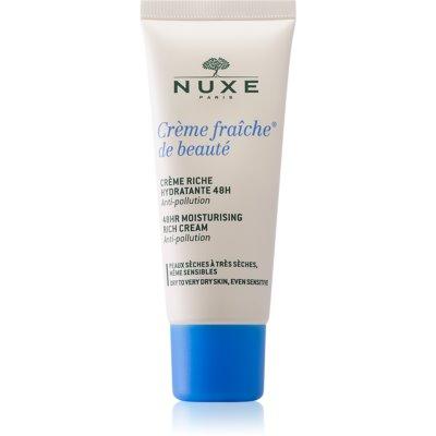 Nuxe Crème Fraîche de Beauté успокаивающий и увлажняющий крем для сухой и очень сухой кожи
