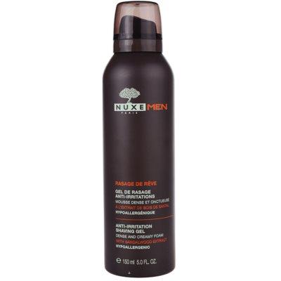 Nuxe Men гель для бритья для лечения раздраженной и зудящей кожи