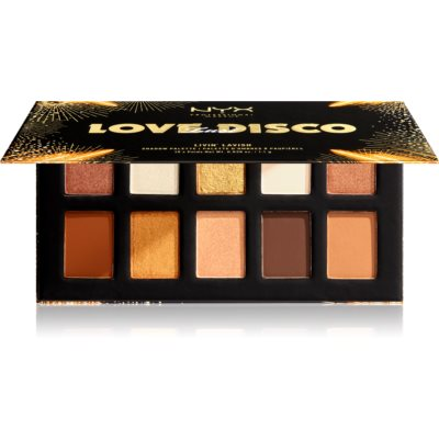 NYX Professional Makeup Love Lust Disco paletka očních stínů