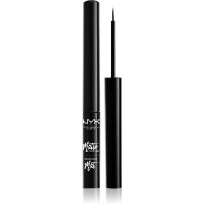 NYX Professional Makeup Matte Liquid жидкая подводка для глаз с матирующим финальным покрытием