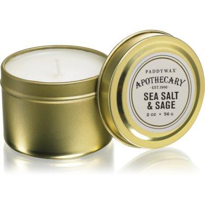 Paddywax Apothecary Sea Salt & Sage mirisna svijeća u limenci