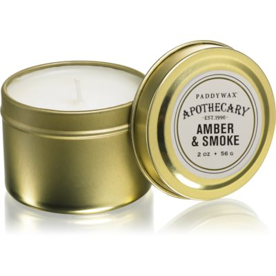 Paddywax Apothecary Amber & Smoke geurkaars in blik